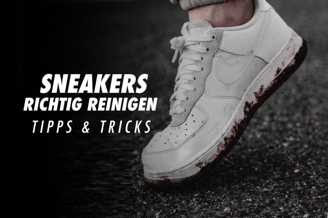 Sneakers richtig reinigen Anleitung