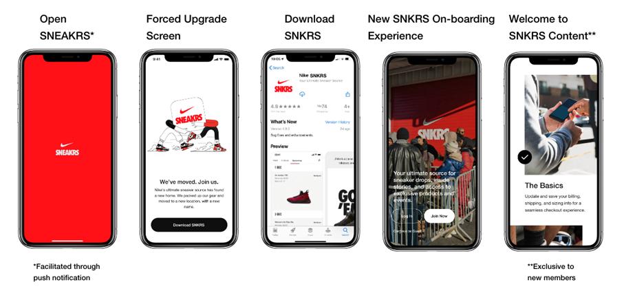 Neue Nike SNKRS App